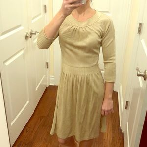 SEARLE shimmering gold dress sz 2